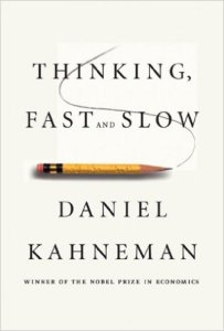 Thinking Fast and Slow, by Daniel Kahneman, book cover